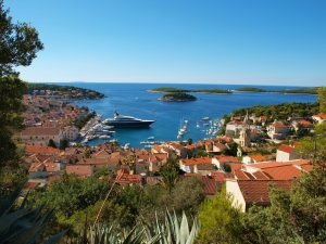 beautiful Hvar Island with views from holiday lettings in Croatia