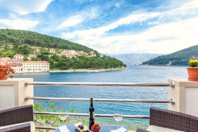 Sea view from the terrace of luxury villa - Brac Island in Croatia - Orvas Villas