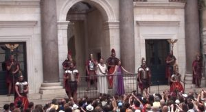 Change of Diocletian's Roman Guard in Split, Croatia