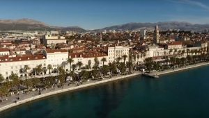 Aerial view of Split's waterfront - Riva - Orvas Villas Croatia