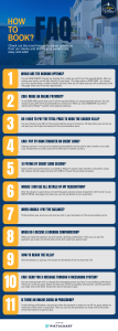 how to book private villa holidays - FAQ - infographic
